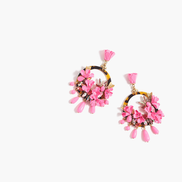 J Crew Mardi Gras Earrings