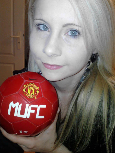 Erzsebet with Manchester United ball