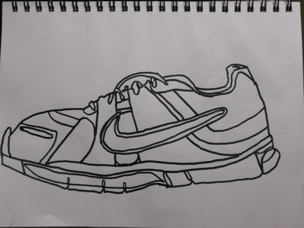 Contour Line Drawing Of Shoes : William schipke s blind contour or line