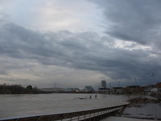 Embarcadero EXPO Crecida del río Ebro 22/01/2013 Zaragoza