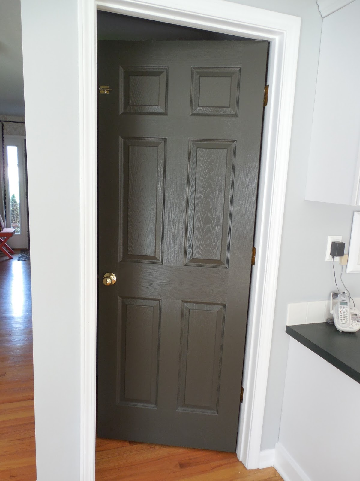 One door at a time for Black interior paint