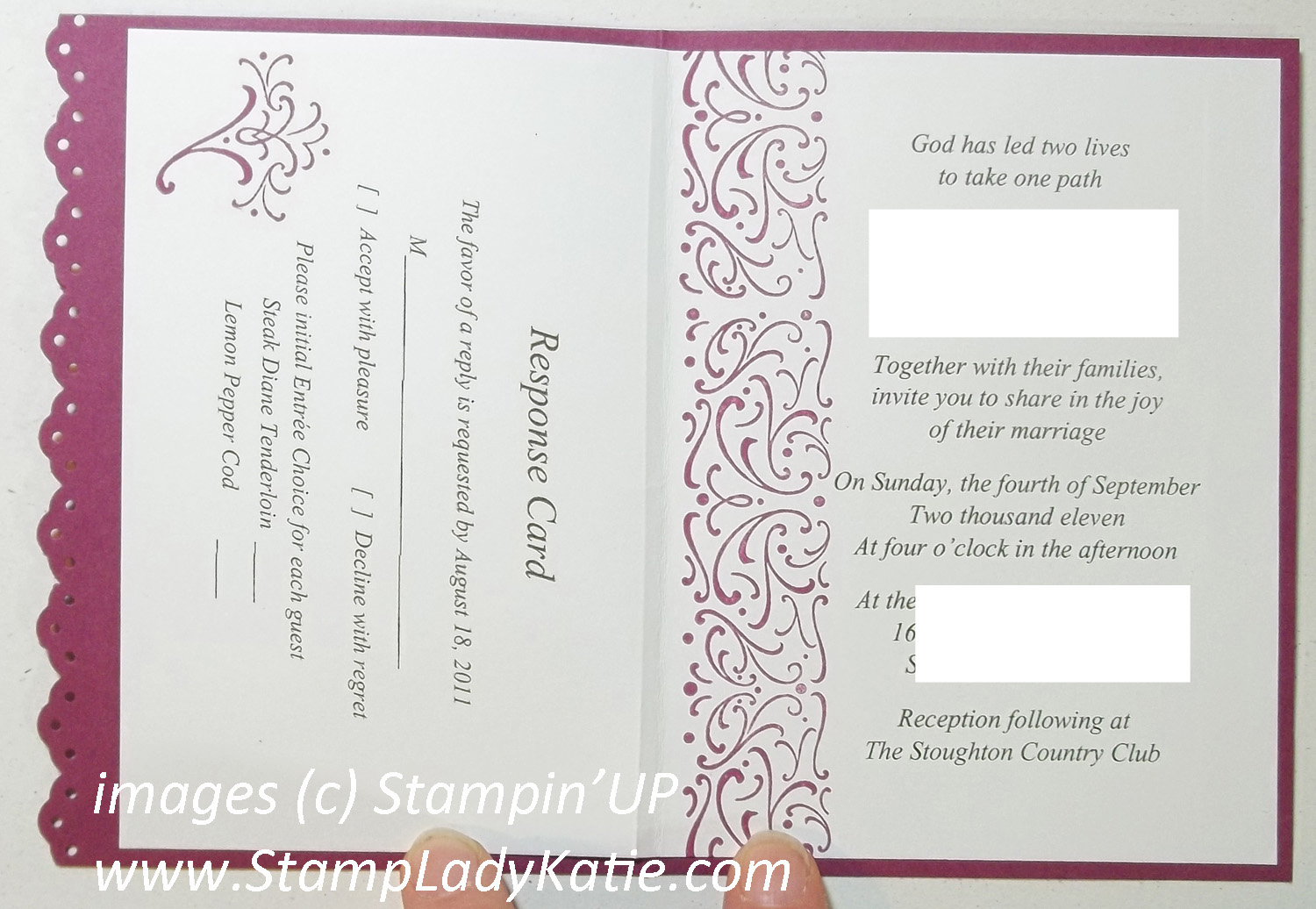 Stampladykatie Com Wedding Sweet Invitation