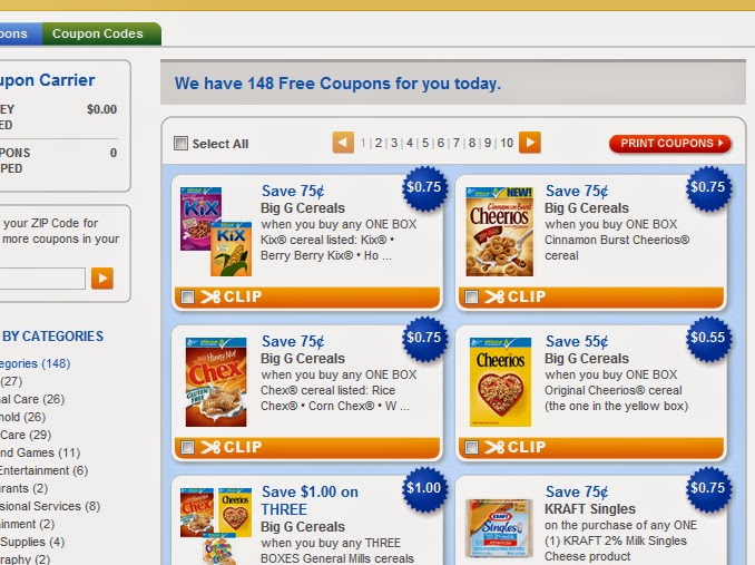Free grocery manufacturer coupons