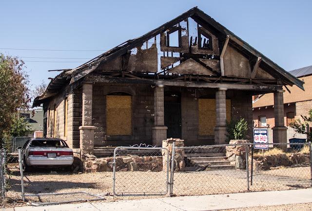 Burned up house Mercury Cougar