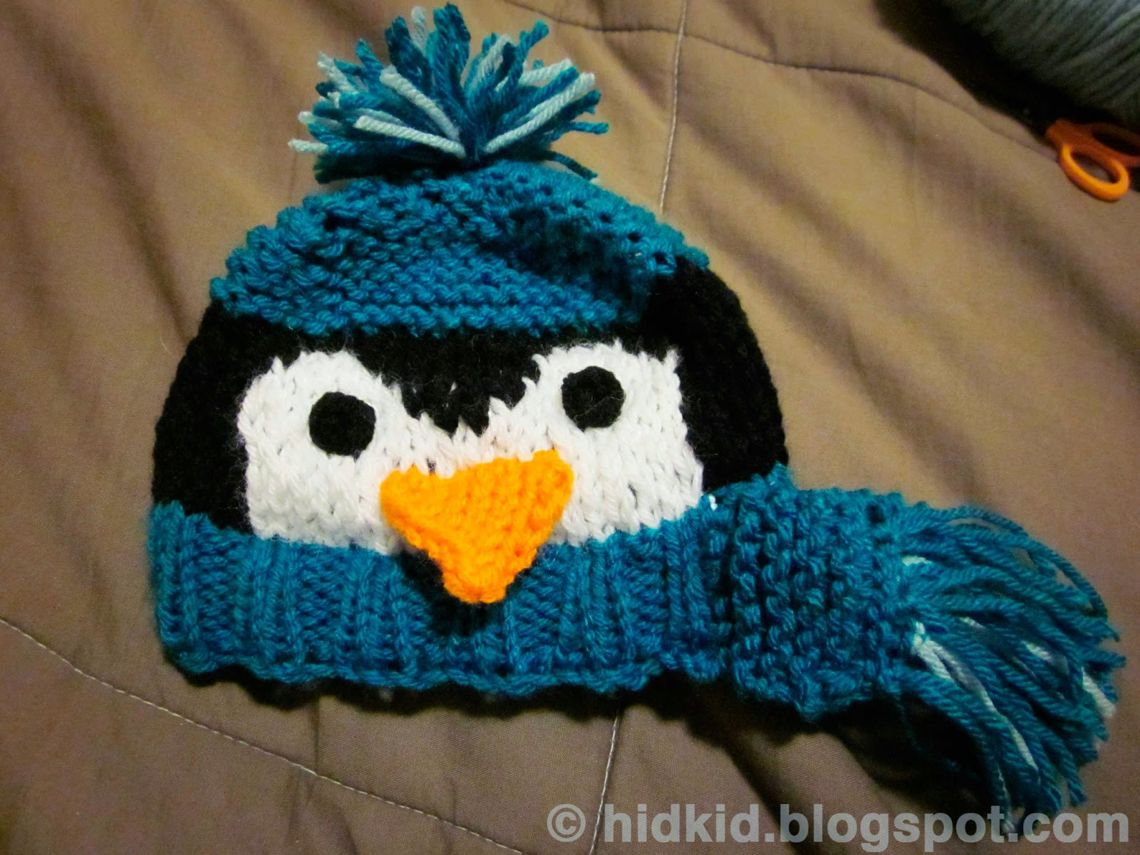 Craftimism: Penguin Knit Hat