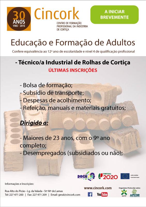 Curso efa de Técnico(a) Industrial de Rolhas de Cortiça – Sta Maria de Lamas