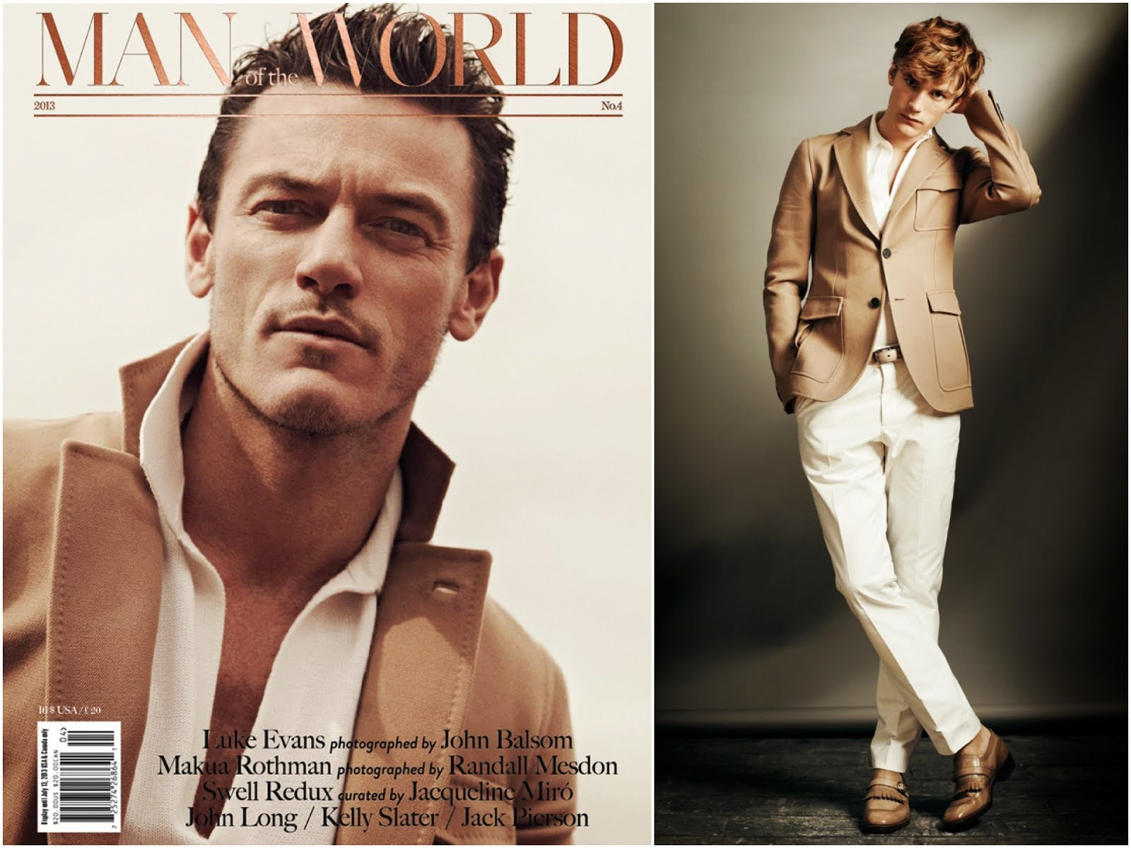 00O00 Menswear Blog: Luke Evans in Berluti - Man of the World issue 4