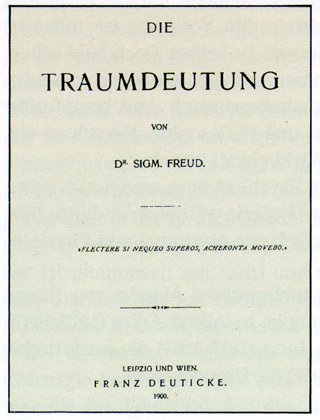 Portada de la primera edición en alemán de La interpretación de los sueños .