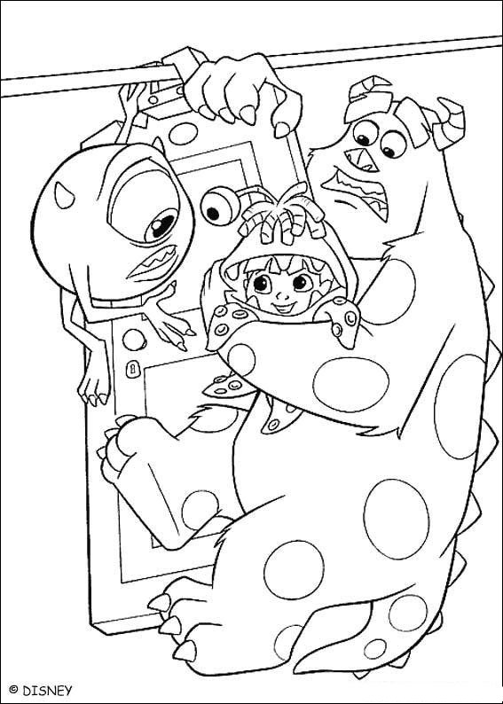 coloriage monster