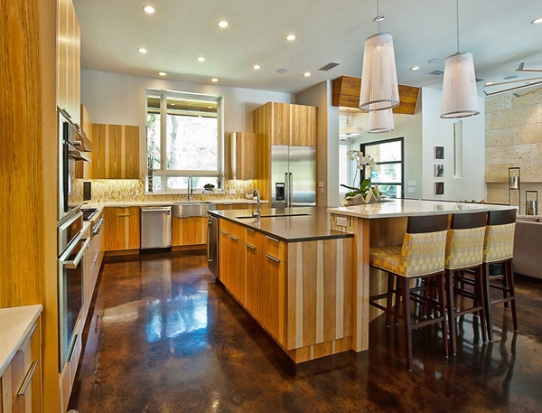 Berbagai inspirasi desain lantai dapur
