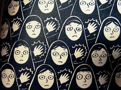 Persepolis, Marjane Satrapi, book, review, hijab, girls, school, black and white, read, Islam, Iran, graphic novel