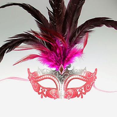 Máscara de Carnaval Sexy con plumas