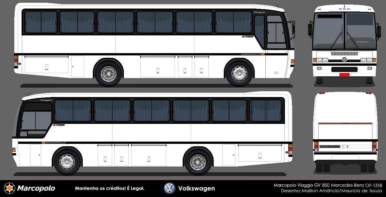 Hudson bus marcopolo viaggio gv 850 mercedes benz of 1318 1994