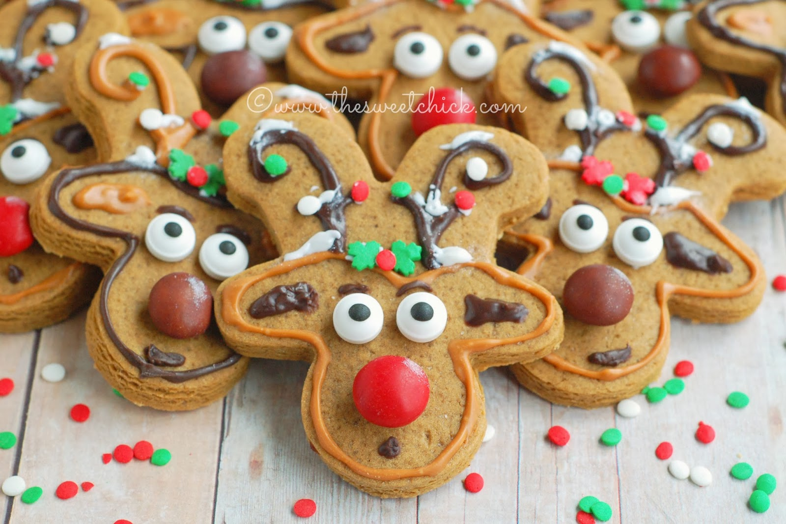 gingerbread reindeer cookies by the sweet chick