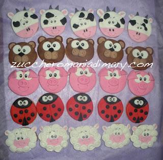 pasta di zucchero biscotti regalo bambini animali