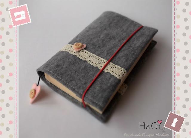 Book Cover Handmade Valentines : Hagi by herzig genaehtes filztaschen aus starkem filz
