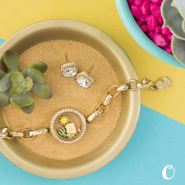 Origami Owl Living Locket Sizzling Summer Look at StoriedCharms.com