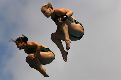 Olympic divers Loudy Wiggins and Rachel Bugg of Australia