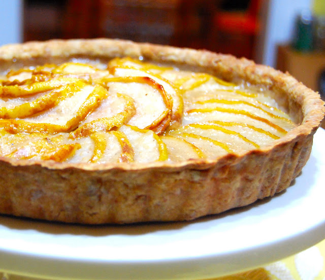 Pear and Almond Tart • Holy Cow! Vegan Recipes