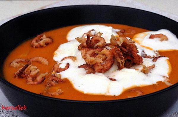Krabbensuppe ist eine tolle Vorspeise