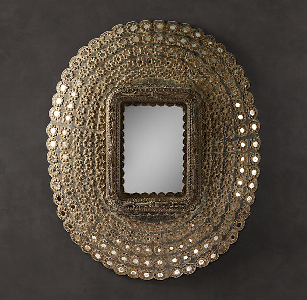 Copy Cat Chic Restoration Hardware Peacock Mirror