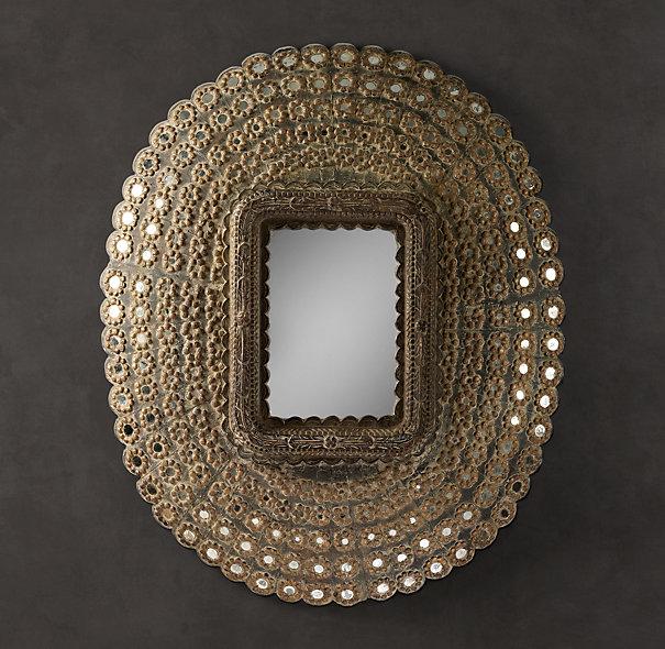 Restoration Hardware Peacock Mirror