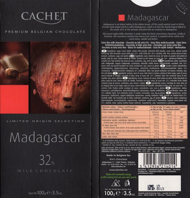 tablette de chocolat lait dégustation cachet lait madagascar 32