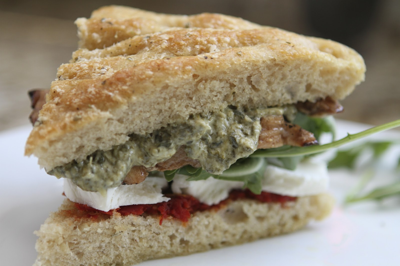... Artichoke spread, Mozzarella, and Sun dried Tomato Chicken sandwiches