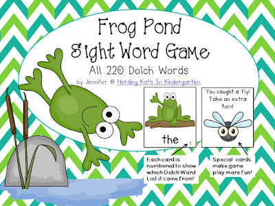 https://www.teacherspayteachers.com/Product/Frog-Pond-Sight-Word-Game-Dolch-Word-Lists-1-11-1798466