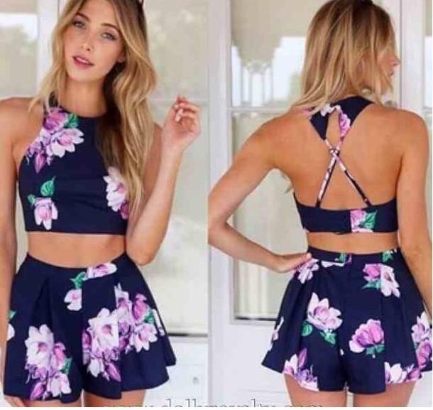 conjunto flores falda