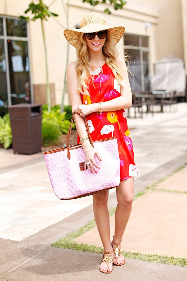 escapada living poppy britt dress