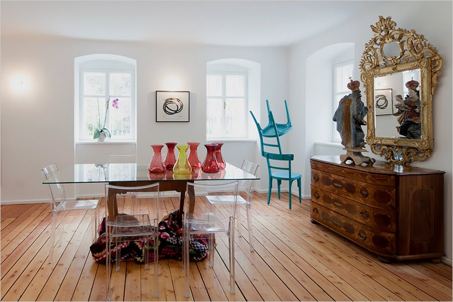 Clear Chairs Dining Room. Glass Dining Table And 6 Chairsglass ...