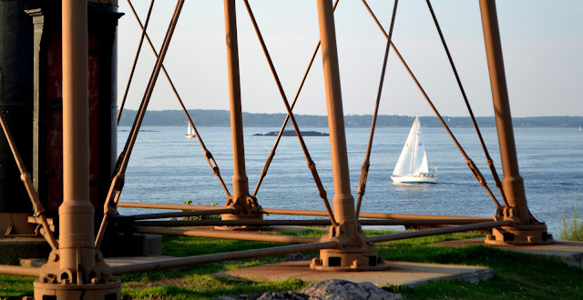 marblehead lighthouse sailboat