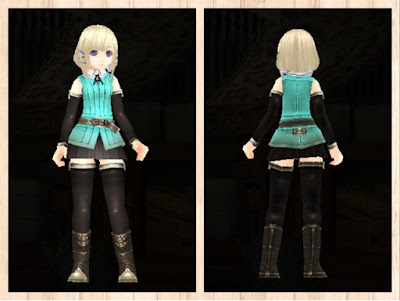 冒険者の服・水色1・軽量化