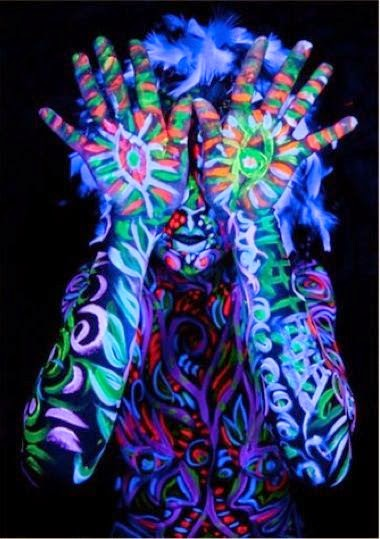 Glow in The Dark Body Painting Art 2014