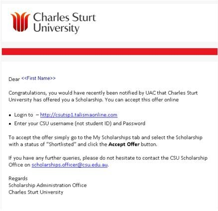 Scholarship Application Letter Format