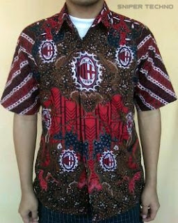Gambar Baju Batik Bola Klub Ac Milan