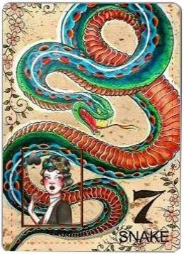 carta de lenormand 7 serpiente