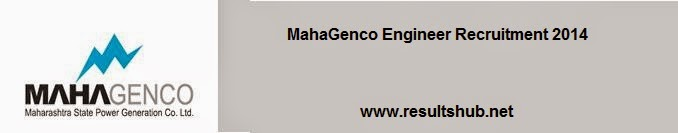 MahaGenco Engineer Recruitment 2014
