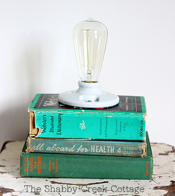 Vintage Book Lamp
