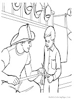 Realistic Labor Day Coloring Pages