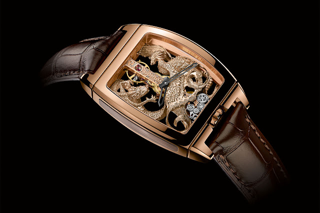 Corum Golden Bridge Dragon & Phoenix Mechanical Hand-wound Watch