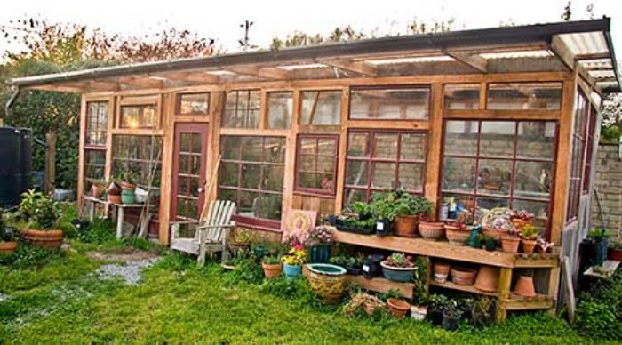 diy greenhouses build a green house from windows doors and a little
