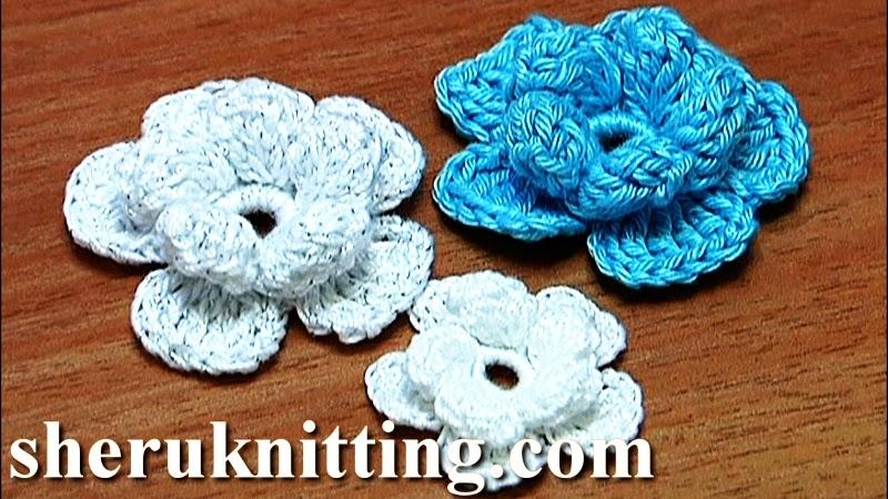 Sheruknitting Crochet Small Flower Tutorial 3