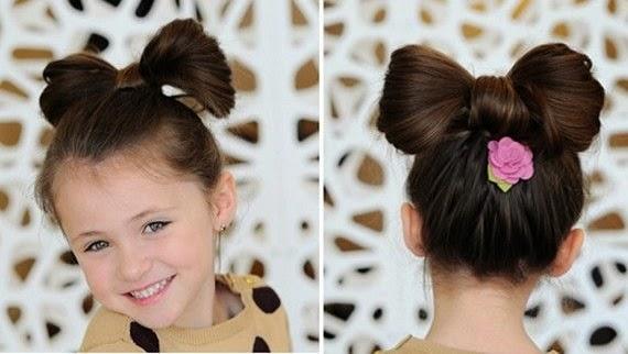 Peinados niña faciles - recogido lazo minnie mouse