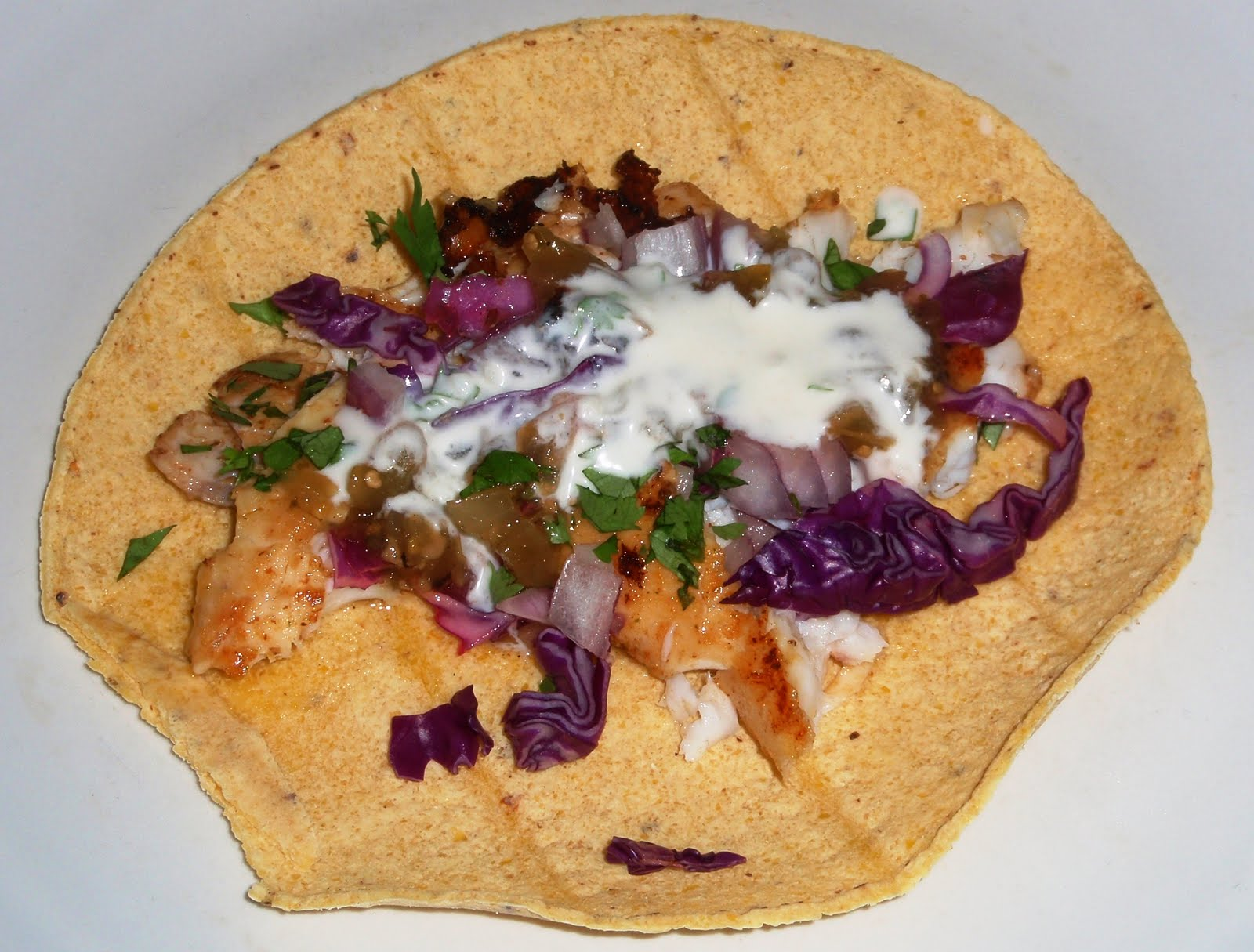 Culinary orgasm fish tacos with tequila lime aioli and for Fish taco aioli
