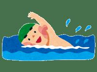 クロールをする男の子 | 海水浴などのイラスト・写真素材。無料で商用可