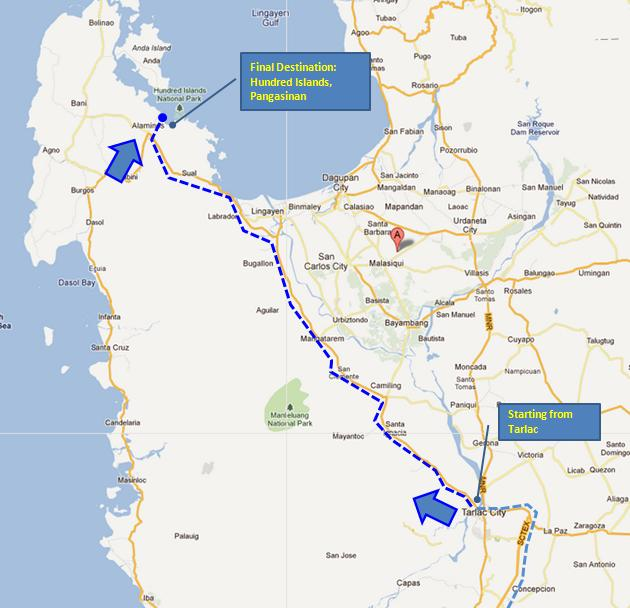 how to go to baler from tarlac