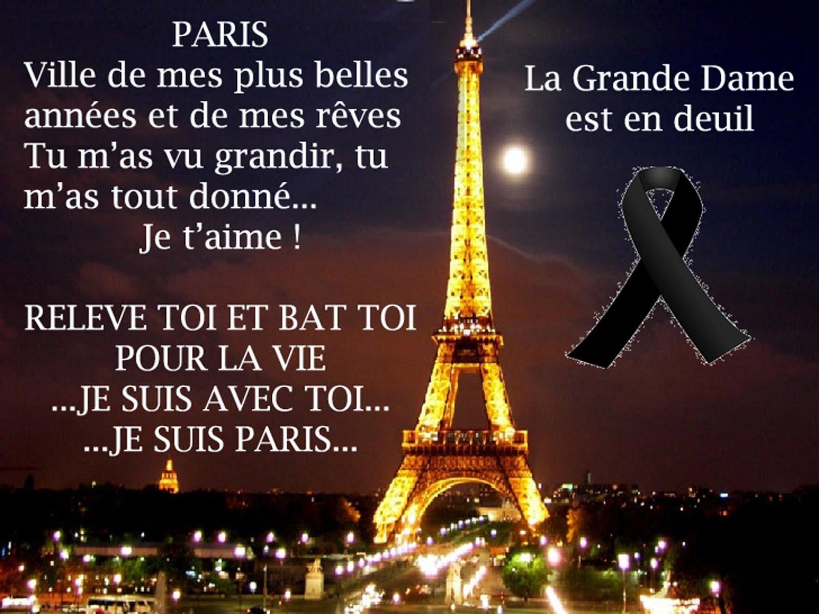 LA GRANDE DAME DE FER EN DEUIL - JE SUIS PARIS