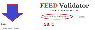 feedburner Not Validate